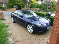 Mazda Rx-8 '56, 192bhp. Bose. Light accident, radiator and bodywork damaged, otherwise perfect.