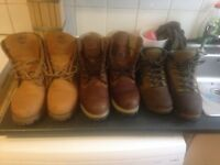3 Timberland shoes