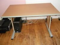 Home Office Furniture to include desk, 3 shelving units, small filing drawer unit