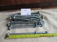 GALVANISED FENCING BOLTS 9 INCHES LONG X 25 EXCELLENT CONDITION WILL SEPARATE IF REQUIRED