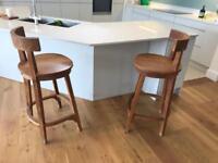 Raft reclaimed teak bar stools