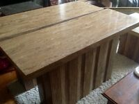 3 LARGE CONTEMPORARY FAUX MARBLE CONSOLE TABLES FOR SALE,CAN DELIVER ,EXCELLENT CONDITION,£250.