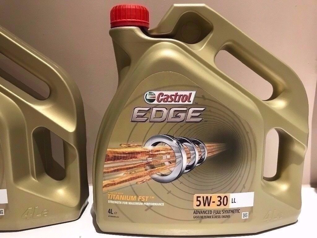 2 x 4 Litre Castrol Edge SAE 5W 30 Fully Synthetic Engine Oil For BMW / Mercedes / Audi / VW