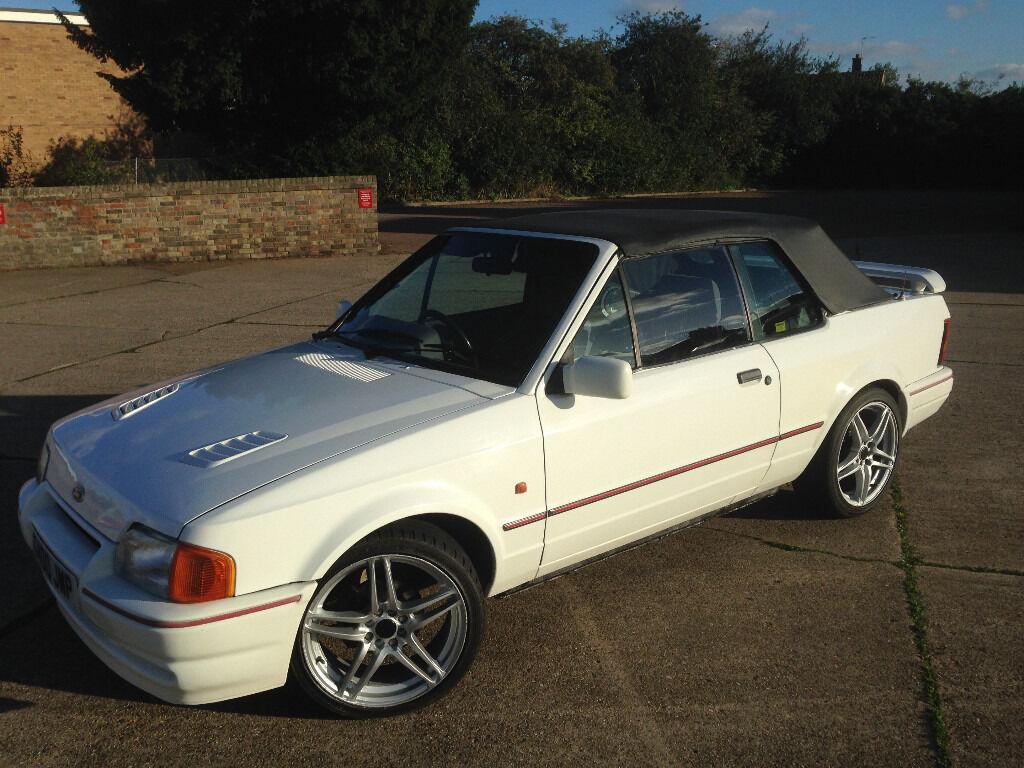 ford escort mk4 1990 xr3i efi 1 6 cabriolet in lowestoft. Black Bedroom Furniture Sets. Home Design Ideas