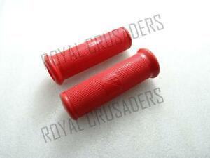 NEW-VESPA-RED-RUBBER-HANDLEBAR-GRIPS-PAIR-VBA-VBB-VLB-VNA