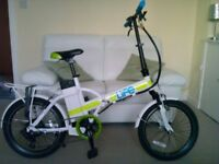 36V Power Assisted Folding Bike. 13 months old. Very good condition