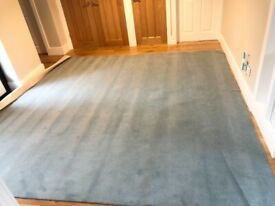 Blue fitted carpet brand new remnant - Westex Ultimate Twist