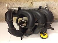 Ford Fiesta mk6 inlet manifold Throttlebody and fuel rail