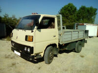 Left hand drive Mitsubishi Canter FE110 2.7 diesel 6 tyres truck. Steel body.