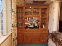Large Teak Effect Display Cabinet - now reduced!!