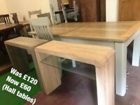 Hall tables half price