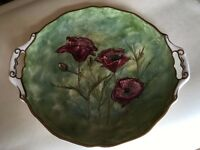 Hand Painted Poppy Plate