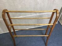 Wooden Victorian towel rail for sale