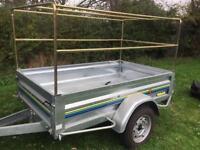 """MINT 6ft 6"""" x 4ft Trelgo tipping trailer + high top/spare wheel"""
