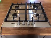 Gas Hob Bosch PCP615B90B Burner Cooker Built in Stainless Steel Kitchen RRP £240