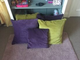 4 Large velvet cushions from Next