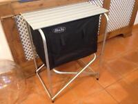 Camping table storage cabinet