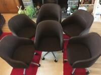 Retro swivel chairs x6