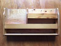 Pine key & letter rack