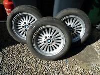 BMW 5 SERIES E39 TWO TURBINE ALLOY WHEELS
