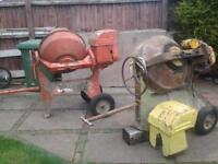 BABY BENFIELD COLLECTABLE CEMENT MIXERS X 2 SPARES OR REPAIR