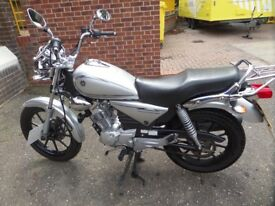 Yamaha 125 Custom cruiser for sale, immaculate condition, very low mileage, learner legal