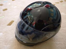 Full-face flip-front motorcycle helmet, unused, M-L