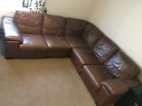Large leather sofa. Good used condition.