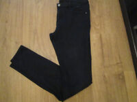 LADIES BLACK SKINNY JEANS - SIZE 14 - GC