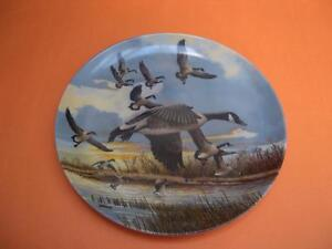 THE LANDING COLLECTOR PLATE BY DONALD LENTZ DOMION CHINA