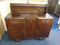 large dark wood side cabinet
