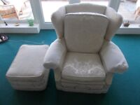 2 sofas 1 chair 1 footstool suite