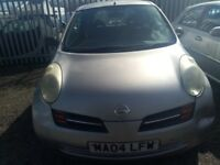 NISSAN MICRA 1.0. 2004. MOT EXPIRED. ENGINE FAULT. 77000