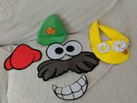 Mr potato costume stickers