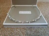 Bridal headband, tiara pearl and crystal