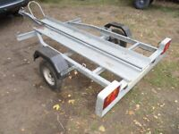 GALVANISED STEEL (400KG) MOTORCYCLE TRANSPORTER TRAILER.....