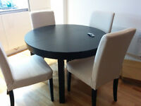 Ikea extendable table and 4 chairs v. good condition