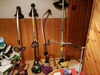 4 petrol strimmer one working 3 spares and repairs