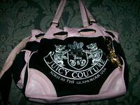 Cute....... REDUCED Juciy Couture Pink & Black Handbag