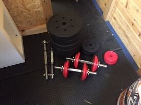 Various Weights and adjustable bench