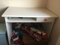 White desk with draw