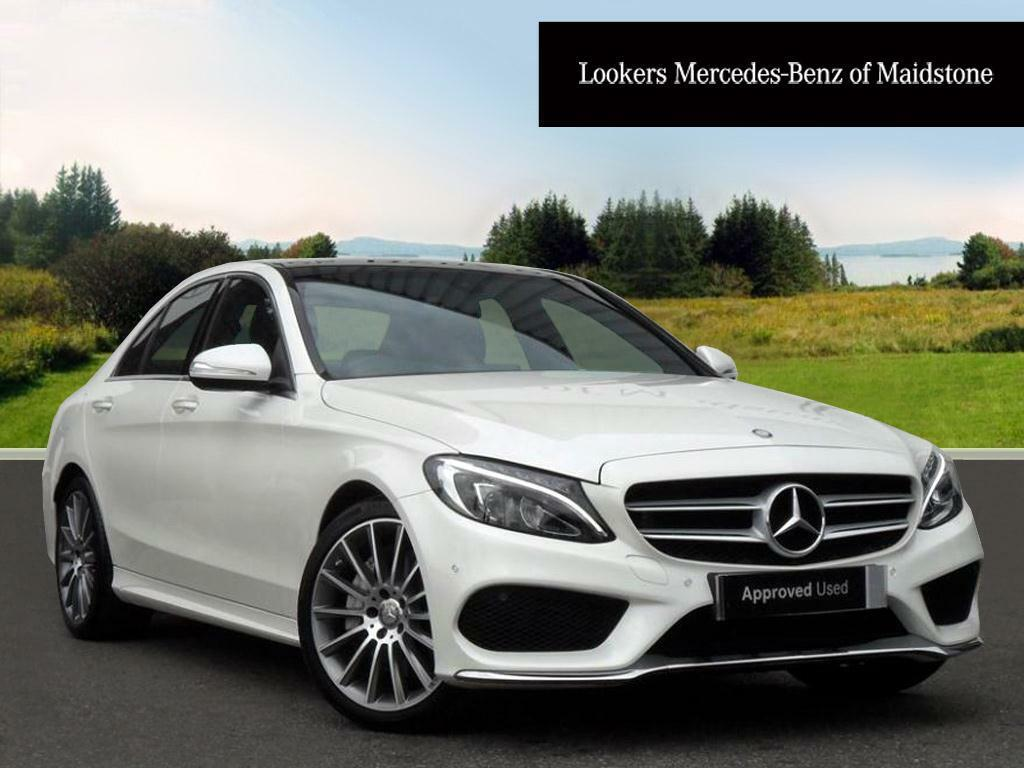 Mercedes benz c class c250 bluetec amg line premium white for Mercedes benz c250 amg
