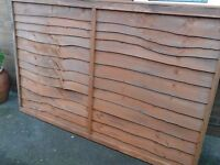 Fence Panels 6'x4' Wooden Lap - good condition