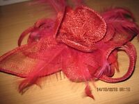 Fascinator Red in Colour