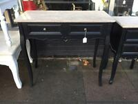 Black Shabby Chic Dressing Table / Console Table