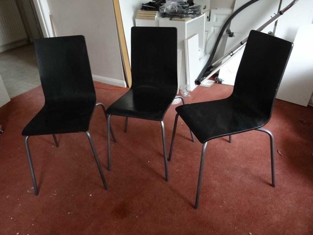 Retro, Vintage 60' or 70's Original Wooden Chairs Set of 3