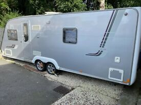 2008 SWIFT CONQUEROR 630 TWIN AXLE 4 BERTH FIXED BED MOTOR MOVER AIR AWNING