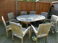 8 x Hardwood Outdoor Dining Chairs