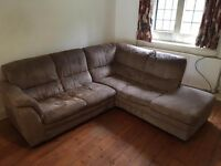 free corner sofa must go by today or tomorrow