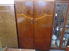 large dark wood vintage wardrobe
